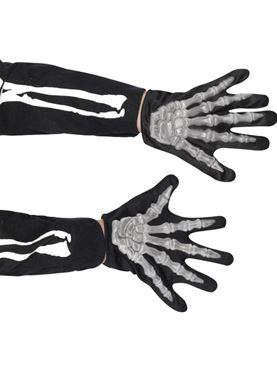 Child Raised Skeleton Bones Gloves
