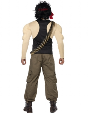 Adult Rambo Costume - Back View