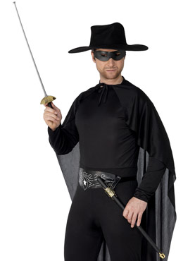 Rapier Sword And Eye Mask Black Pvc
