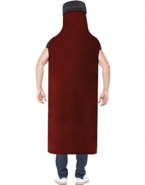 Adult Really Really Hot Sauce Costume - Side View