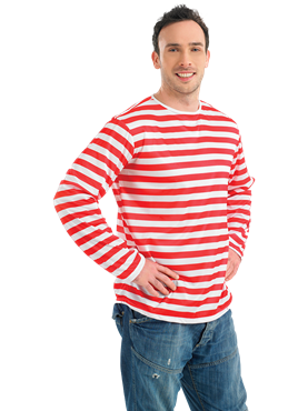 Red and White Striped Jumper Couples Costume
