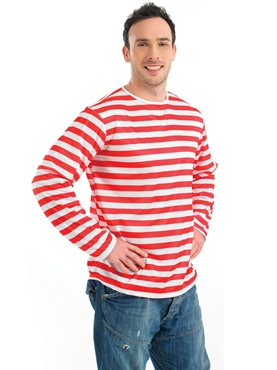Red and White Striped Jumper