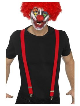 Red Clown Braces - Back View