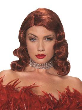 Adult Red Femme Fatale Wig