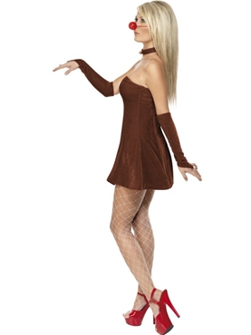 Adult Red Hot Reindeer Costume - Back View