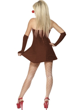 Adult Red Hot Reindeer Costume - Side View