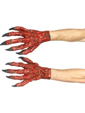 Red Latex Devil Hands