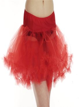 Adult Red Layered Tutu Skirt