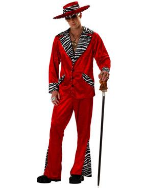 Adult Red Pimp Costume