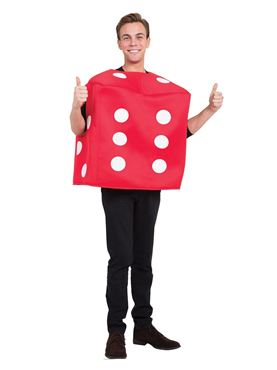 Red Poker Dice Costume Couples Costume