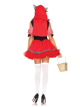Adult Red Riding Wolf Costume - Back View