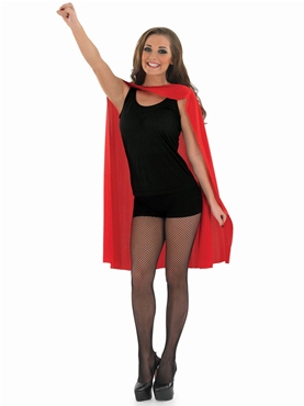 Adult Ladies Red Super Hero Cape - Back View