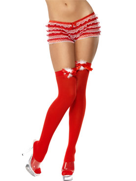 Red Thigh Stockings