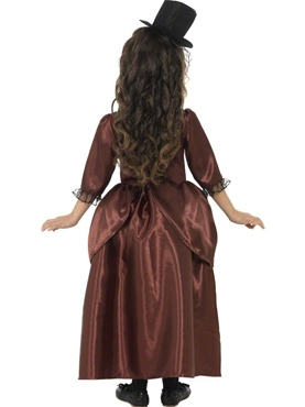 Child Red Vampiress Costume - Back View