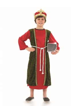 Child Red Wise Man Costume