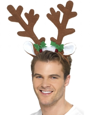 Reindeer Antlers Headband - Back View