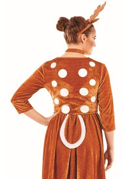 Reindeer Lady Costume - Back View