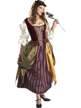 Adult Deluxe Renaissance Maiden Costume