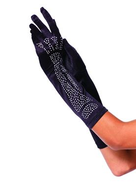 Rhinestone Bone Gloves