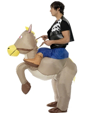 Adult Ride 'Em Cowboy Costume - Back View