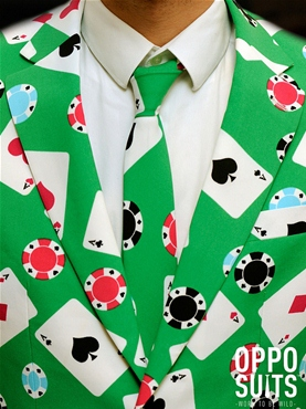Adult Poker Face Oppo Suit - Side View