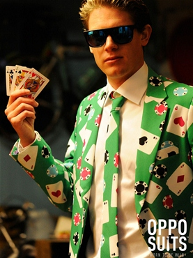 Adult Poker Face Oppo Suit - Back View
