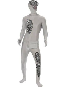 Adult Robotic Second Skin Costume