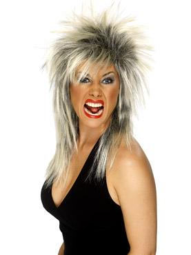 Rock Diva Wig Blonde And Black