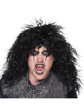 Rock Star Black Wig - Back View