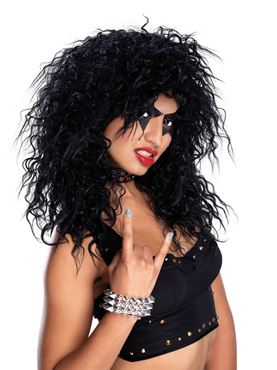 Rock Star Black Wig