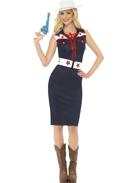 Adult Rodeo Cowgirl Sweetie Costume Thumbnail