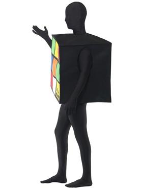 Adult Rubik's Cube Costume - Back View