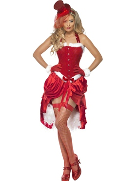 Adult Santa Baby Burlesque Costume