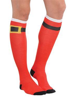 Santa Belt Socks