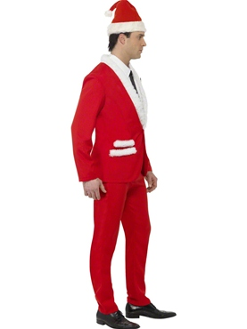 Adult Santa Cool Costume - Back View