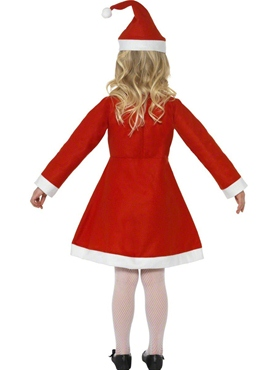 Child Santa Girl Costume - Side View