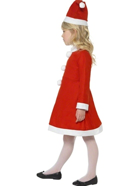 Child Santa Girl Costume - Back View