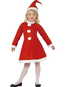 Child Santa Girl Costume