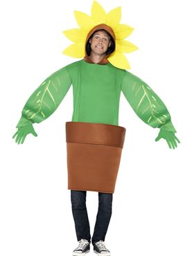 Adult Sunflower Costume - Back View