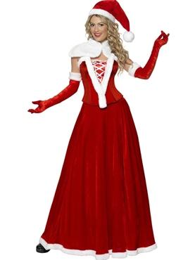 Adult Santa Long Skirt Costume