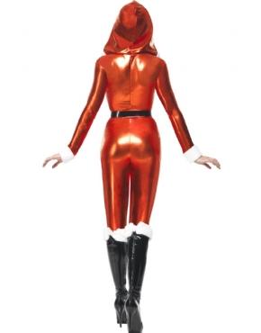 Adult Santa Miss Whiplash Costume - Side View