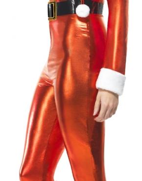 Adult Santa Miss Whiplash Costume - Back View