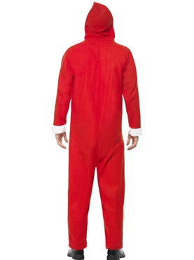 Adult Santa Onesie Costume - Side View