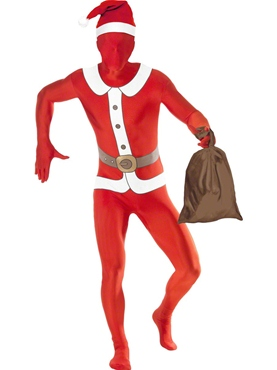 Adult Santa Second Skin Suit Costume