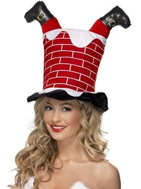 Santa Stuck in Chimney Hat