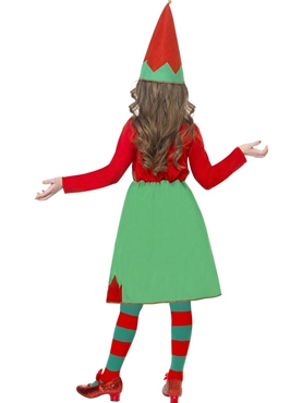 Child Santa's Little Helper Elf Costume - Side View