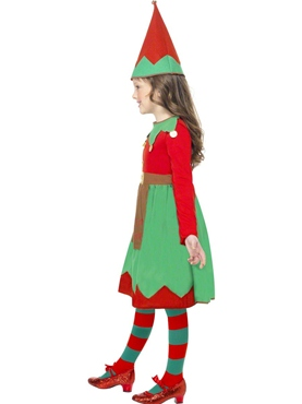 Child Santa's Little Helper Elf Costume - Back View
