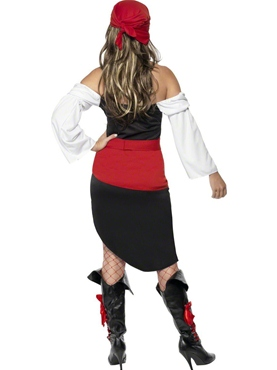 Adult Sassy Pirate Wench Costume - Side View