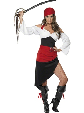 Adult Sassy Pirate Wench Costume