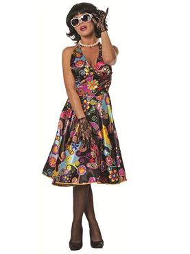 Adult 1960s Satin Pin Up